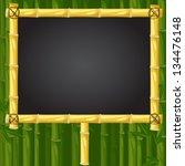 vector bamboo school chalk...   Shutterstock .eps vector #134476148