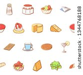 food images. background for... | Shutterstock .eps vector #1344768188