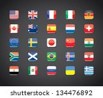 most popular countries flags... | Shutterstock .eps vector #134476892