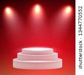 round pedestal. stage podium... | Shutterstock .eps vector #1344770552