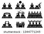 politicians  president or prime ... | Shutterstock .eps vector #1344771245