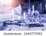 stock market or forex trading... | Shutterstock . vector #1344777092