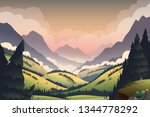 vector background with vibrant... | Shutterstock .eps vector #1344778292