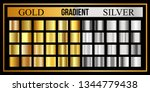 set of gold and silver gradient.... | Shutterstock .eps vector #1344779438