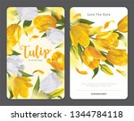 blooming beautiful yellow with... | Shutterstock .eps vector #1344784118