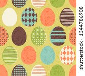 abstract seamless retro easter... | Shutterstock .eps vector #1344786908