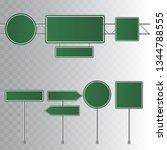 set of road green traffic signs.... | Shutterstock .eps vector #1344788555