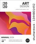 creative minimal book design... | Shutterstock .eps vector #1344801452