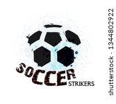 vector grunge soccer ball   t... | Shutterstock .eps vector #1344802922
