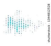 dark blue vector template with... | Shutterstock .eps vector #1344812528