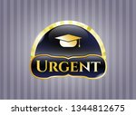 gold emblem or badge with... | Shutterstock .eps vector #1344812675