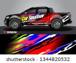car and truck wrap decal design ... | Shutterstock .eps vector #1344820532