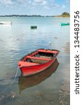 Fishing Boats Moored In The...