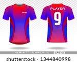 sports t shirt template....   Shutterstock .eps vector #1344840998