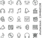 thin line vector icon set  ... | Shutterstock .eps vector #1344860138