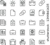 thin line vector icon set  ... | Shutterstock .eps vector #1344861635
