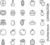 thin line vector icon set  ... | Shutterstock .eps vector #1344862538