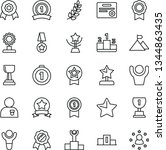 thin line vector icon set  ... | Shutterstock .eps vector #1344863435