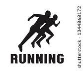 silhouette sport running man... | Shutterstock .eps vector #1344868172