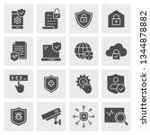security icon set. black vector ... | Shutterstock .eps vector #1344878882