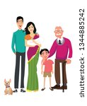 family together. vector... | Shutterstock .eps vector #1344885242
