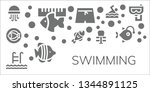 swimming icon set. 11 filled... | Shutterstock .eps vector #1344891125