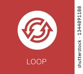 loop icon. editable  loop icon ...