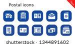 postal icon set. 10 filled... | Shutterstock .eps vector #1344891602