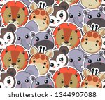 vector seamless pattern with...   Shutterstock .eps vector #1344907088