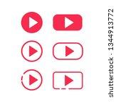 play button icon. vector...   Shutterstock .eps vector #1344913772