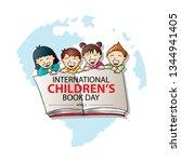 international children's book... | Shutterstock .eps vector #1344941405