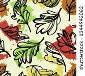 botanical seamless pattern.... | Shutterstock .eps vector #1344942062