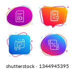 video file  reject checklist... | Shutterstock .eps vector #1344945395