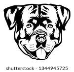 rottweiler vector illustration | Shutterstock .eps vector #1344945725
