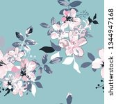 seamless floral pattern in... | Shutterstock .eps vector #1344947168