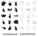 hand gesture black outline... | Shutterstock .eps vector #1344959918