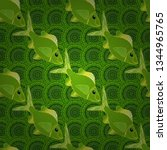 seamless sea travel pattern ... | Shutterstock .eps vector #1344965765