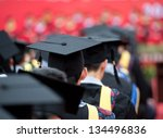 back of graduates during... | Shutterstock . vector #134496836