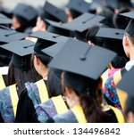 back of graduates during... | Shutterstock . vector #134496842