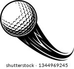 golf ball motion moving effect... | Shutterstock .eps vector #1344969245
