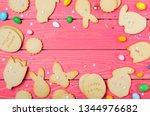 easter cookies  homemade... | Shutterstock . vector #1344976682