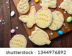 easter cookies  homemade... | Shutterstock . vector #1344976892