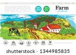 sketch farm web page concept... | Shutterstock .eps vector #1344985835