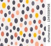 seamless vector pattern with... | Shutterstock .eps vector #1345008908