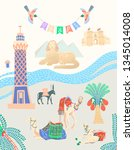 travel card about egypt  great...   Shutterstock .eps vector #1345014008