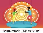 black african american young... | Shutterstock .eps vector #1345019285
