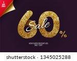 shine golden sale 60  off  made ... | Shutterstock .eps vector #1345025288