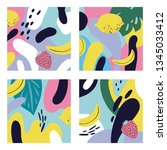 abstract summer pattern for... | Shutterstock .eps vector #1345033412
