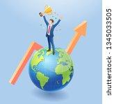 business people isometric... | Shutterstock .eps vector #1345033505