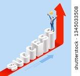 business people isometric... | Shutterstock .eps vector #1345033508